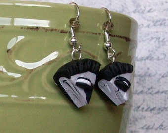 Cookies and Cream Pie Polymer Clay Earrings