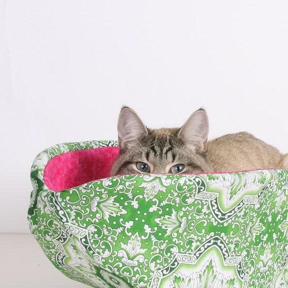 Cat Canoe a Modern Cat Bed in Watermelon