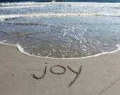 JOY - My One Word - Sand Writing Print