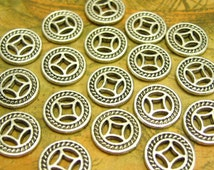 50 pcs Silver Coins Silver Chinese Coins Double Sided 10mm CH1486