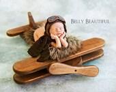 Crochet Hat // Baby // First Birthday // Aviator Hat // Hat // Aviator set  Photo Prop