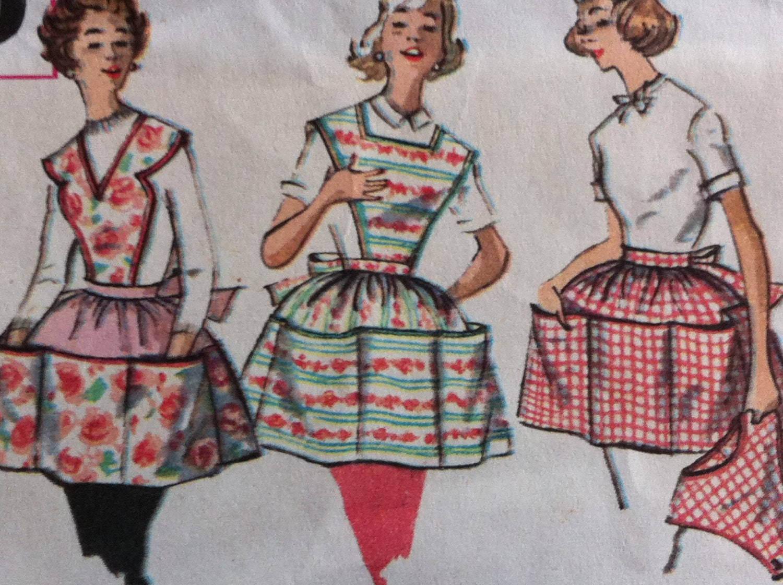 30 Free Vintage Apron Patterns SEWING Pinterest Vintage 80