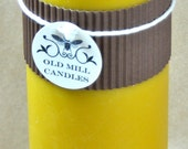 Beeswax Candle Jumbo Pillar, Beeswax Column