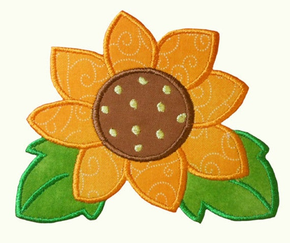 Sunshine Flower Applique Embroidery Machine by NewfoundApplique