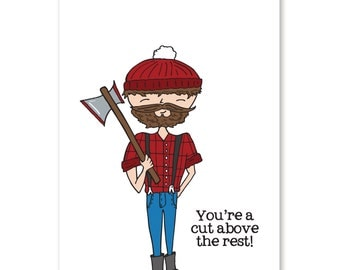 Lumberjack Greeting Card