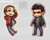 Stiles and Derek - Set of 2 Charms - PREORDER