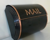 Large antique copper  mailbox