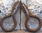 Vintage Industrial Cast Iron Ring-Spikes/ Salvage