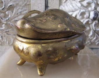 """Antique """"Art Nouveau"""" Trinket Box / Casket"""