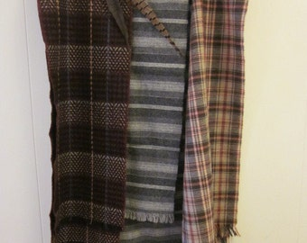 Men's Mid Century Wool Scarf  Mint Condition Your Choice Gray Brown Maroon Sharp dressed Man