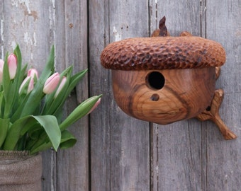Acorn Garden Birdhouse - Outdoor and Garden - Mothers Day Gift - Birds and Bees  - Naturalist