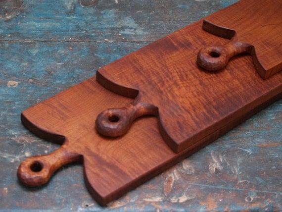 Tiger maple breadboard rustic serving board wooden