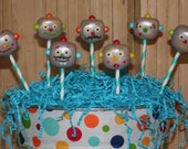 Mom's Killer Cakes & Cookies ORIGINAL DESIGN Henry's Robots Robot Cake Pops