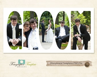Photography Storyboard Templates Wedding Storyboard Photoshop Template for Photographers - S124