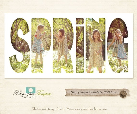 Photography Storyboard Templates Spring Storyboard Photoshop Template for Photographers - S118