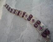 Purple Swarovski Bracelet