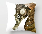 Beach Nautical Decor Seahorse Pillow Cover Ocean Treasures No.1