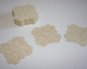 Square Scallop Tag for Escort Card - Garland - Bookmaking - Gift Tag - DIY - Die Cut
