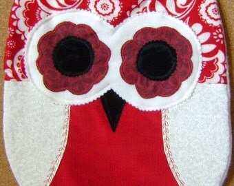 Unique Berries n Cream Color Owl Pillow.CUSHION  w/Wings Perfect  Gift  For Any Occassion