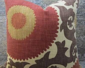 SALE Designer Pillow Cover  - Lumbar, 16 x 16, 18 x 18, 20 x 20, 22 x 22- Fahri Clove -