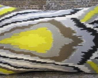 Trina Turk Designer Pillow Cover - 12 x 16, 12 x 18 - Peacock Driftwood Horizontal