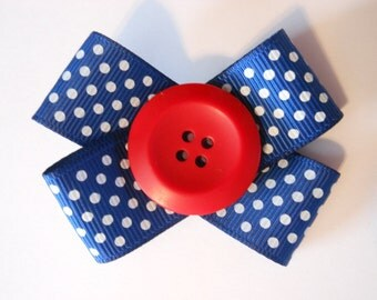 4th of July- Red, White, and Blue Ribbon Hair Bow
