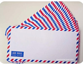 10 White Air mail envelopes