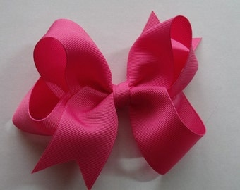 Hair Bow- Hot Pink- Hair Bow