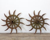 Farm Implement / Vintage Spiked Gear Wheel