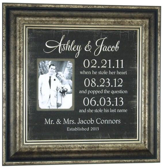 Important Dates Mr Mrs Bride Groom Custom By