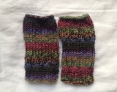 Multi-Colored Mis-Matching Fingerless Gloves
