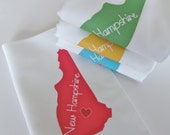 I Love New Hampshire, Set of Four Napkins- Set of FOUR