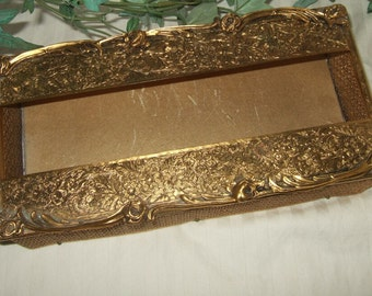 Vintage brass kleenex box brass tissue dispenser ornate brass feminine tissue holder Hollywood Regency Bling bedroom pizazz