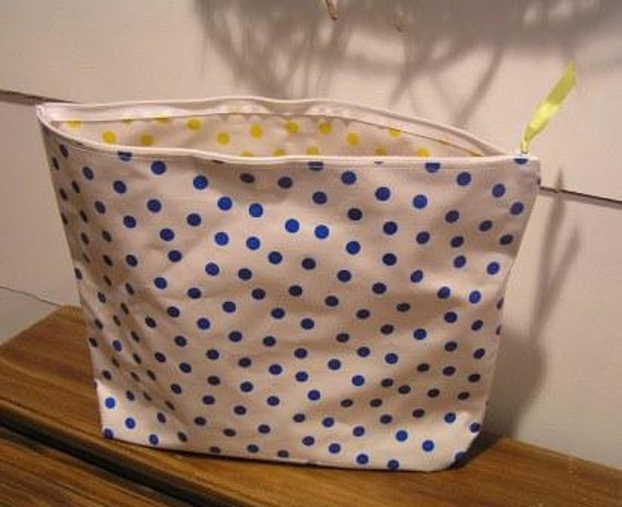 Bag large cosmetic bag polka dot bag oilcloth bag laundry bag