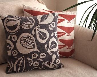 Sanderson Fruit Cross Stitch Pattern PDF Pillow Cover