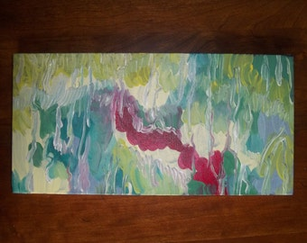 "Original abstract painting // acrylic painting // 12"" x 6"""