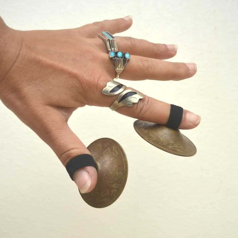Brass Finger Cymbals. Musical Castanets. by ...