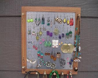 Australian lacewood jewelry organizer, woodworking, jewelry holder, earring holder, sustainable wood, necklace holder, Australia, Montana