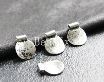 20pcs / Coin / Pendant / Spacer / Oxidized Silver / Base Metal / Charm (YA16938//K311)
