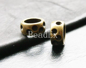 6pcs / Spacer / Antique Brass Tone / Base Metal / 17x9mm (YB9817//C179)