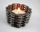 Recycled Bike Chain Tea Light Candle Holder - 5 Tall