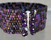 Peyote Bracelet Beadwork Jewelry Beaded Bracelet Womens Bracelet Handmade Jewelry Beadweaving Purple Haze