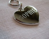 Pet ID Tag-Heart (gold or silver finish)