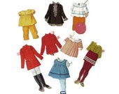 """1968 Buffy """"Family Affair"""" Paper Doll Folder and Clothes"""