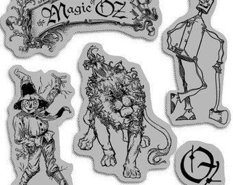 Magic of Oz 1 - Cling Mounted Rubber Stamps from Graphic 45 & Hampton Art