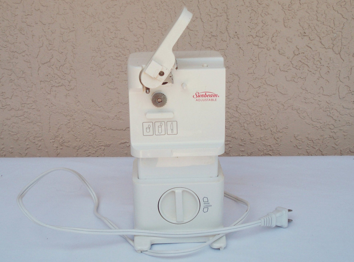 Sunbeam Adjustable Electric Can Opener With Knife And Scissors