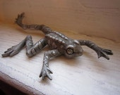 Vintage Pewter Frog Brooch Pin For Your Inner Biologist