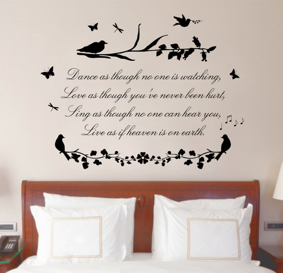 Love Quotes For Wall Art : Dance sing love poem quote vinyl wall art sticker decal