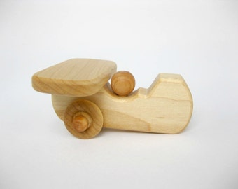 Wooden Toy Airplane, little wood toddler toy