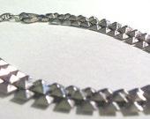 Vintage Egyptian Rivet Pyramid Choker Necklace
